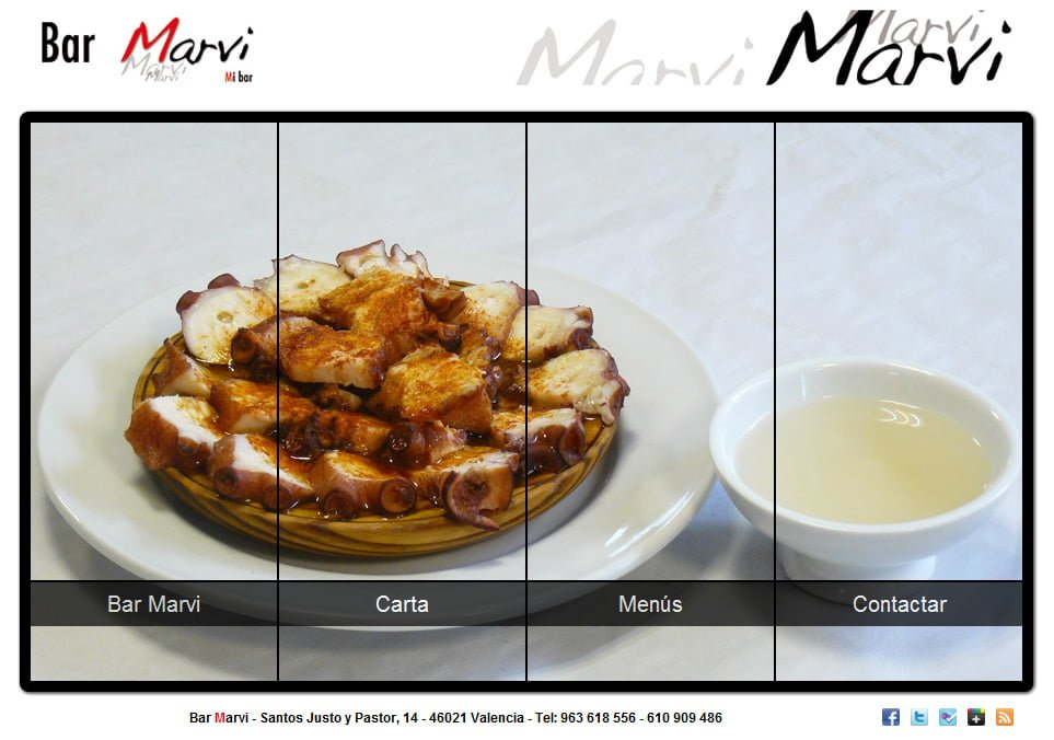 Primera Web del Bar Marvi (Valencia)